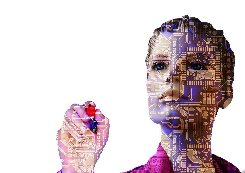 robot, artificial intelligence, woman