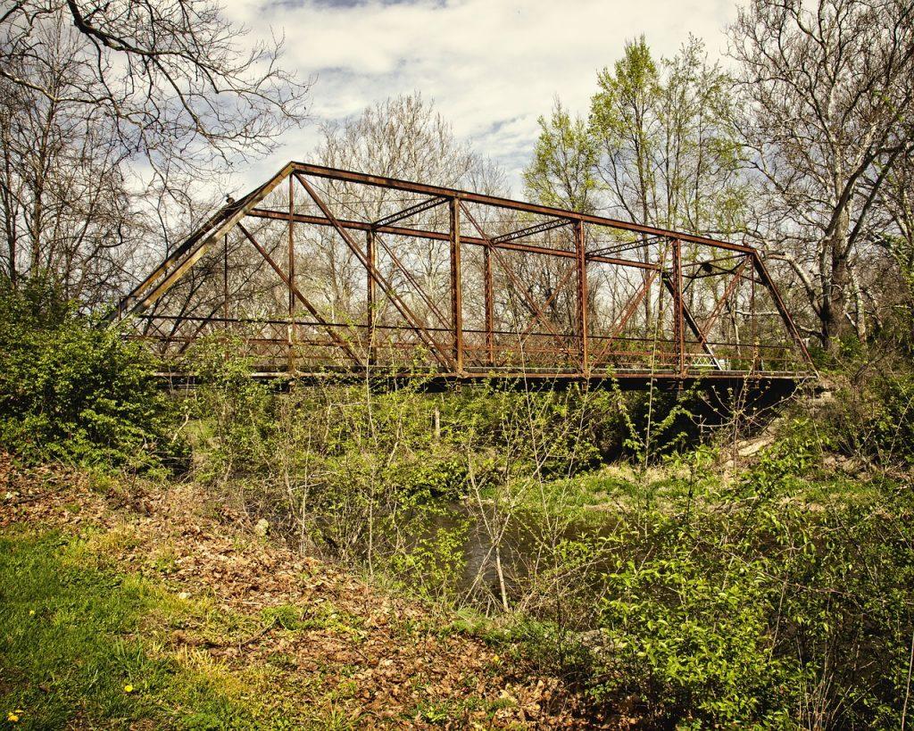 bridge, scenery, trees